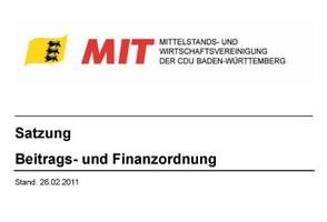 Satzung der MIT Baden-Württemberg